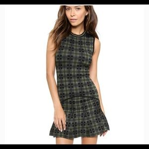 Torn by Ronny Kobo plaid fit flare bandage dress